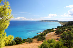 Coast of Greece in Zakynthos Stock Photography