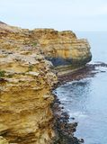 The coast of the Grotto. The grotto is a sinkhole geological formation found on the Great Ocean Road outside Port Campbell in Victoria in  Australia Royalty Free Stock Photo