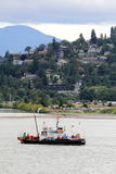 Coast Guard Boat. A coast guard boat on the Columbia River below the town of Hood River, Oregon Stock Images