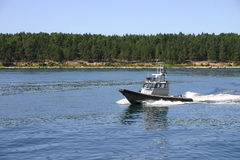 Coast guard boat Royalty Free Stock Photo