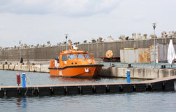 Coast guard boat - RAW format Royalty Free Stock Images