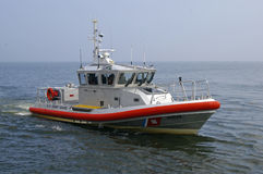 A Coast Guard Boat at Duluth Harbor Royalty Free Stock Images
