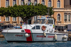 Coast Guard boat in the Syracuse harbor Stock Photography