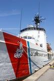Coast Guard Boat Tied Royalty Free Stock Photography