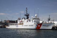 Coast guard cotter at the pier Royalty Free Stock Photo