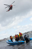 Coast Guard crew water rescue training Royalty Free Stock Images