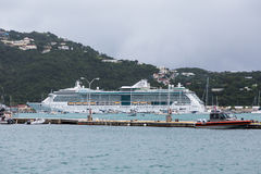 Coast Guard and Cruise Ship Royalty Free Stock Photography