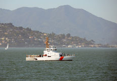 Coast guard cutter. On patrol in the San Francisco bay Royalty Free Stock Photo