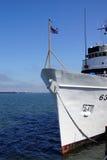 Coast Guard Cutter Alert. ASTORIA, OREGON - OCT 1, 2015 - Coast Guard Cutter Alert, 630,  anchored in  Astoria, Oregon Royalty Free Stock Photo