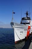 Coast Guard Cutter Alert. ASTORIA, OREGON - OCT 1, 2015 - Coast Guard Cutter Alert, 630,  anchored in  Astoria, Oregon Royalty Free Stock Photography