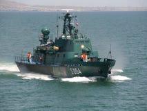 Coast Guard cutter. Azerbaijan. conducts maneuvers Stock Image