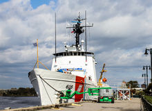 Coast Guard cutter Diligence, Wilmington, NC. Coast Guard cutter Diligence gets attention from its crew Stock Images