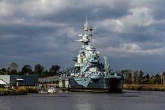 Battleship North Carolina, Wilmington, NC. Royalty Free Stock Photo