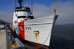 Coast Guard Cutter Steadfast. Anchored in  Astoria, Oregon Stock Image