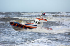 Coast Guard During Storm Stock Images