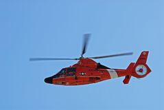 Coast guard helicopter. On a rescue mission. Corpus Christi, Texas. Photo taken at 18th of November 2008 Stock Photos