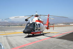 Coast Guard Helicopter. U.S. Coast Guard Helicopter on airfield Stock Image