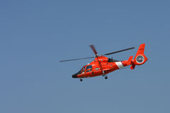 Coast Guard Helicopter. CLEVELAND, OHIO - SEPT. 3: U.S. Coast Guard rescue helicopter at the Cleveland National Airshow on Sept. 3, 2011 in Cleveland, Ohio Stock Images