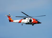 Coast Guard helicopter Royalty Free Stock Photos