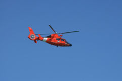 Coast Guard Helicopter. Helicopter on patrol Royalty Free Stock Photo