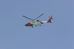 Coast guard helicopter Royalty Free Stock Photography