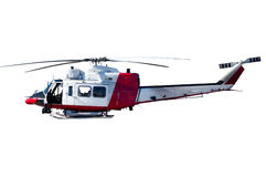 Coast guard helicopter. Isolated on white background Stock Photos