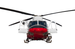 Coast guard helicopter. Isolated on white background Royalty Free Stock Images