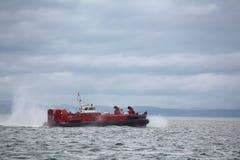 Coast Guard Hovercraft Underway Stock Image