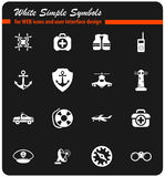 Coast guard icon set Royalty Free Stock Photos
