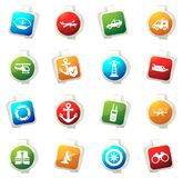 Coast Guard icons set. Coast Guard color icon for web sites and user interfaces Royalty Free Stock Photo