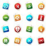 Coast Guard icons set. Coast Guard color icon for web sites and user interfaces Stock Images