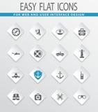 Coast Guard icons set. Coast Guard easy flat web icons for user interface design Stock Photo