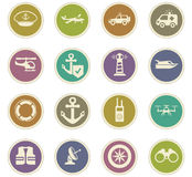 Coast Guard icons set. Coast Guard icon set for web sites and user interface Royalty Free Stock Photos