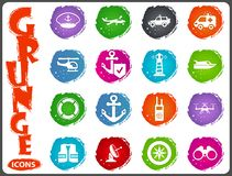 Coast Guard icons set. Coast Guard icon set for web sites and user interface Royalty Free Stock Photography