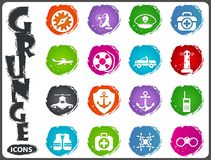 Coast Guard icons set. Coast Guard icon set for web sites and user interface Royalty Free Stock Photo
