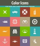 Coast Guard icons set stock illustration