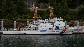 Coast Guard in Juneau. Coast Guard ships docked in Juneau, Alaska Royalty Free Stock Images