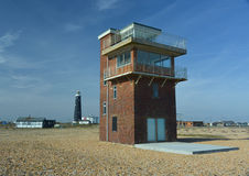 Coast Guard look out tower Dungeness uk Stock Photo