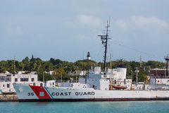 Coast Guard Navy and Lighthouse Royalty Free Stock Image