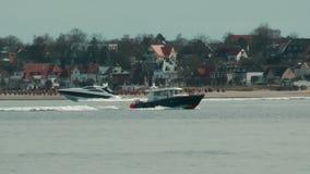 Coast Guard near Laboe. Germany stock video footage