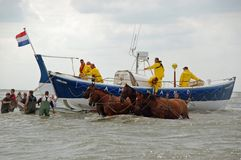 Coast Guard in Netherlands Stock Images