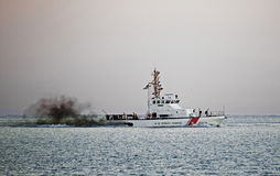 Coast Guard patrol boat Oct 11, 2015 Cape May New Jersey Royalty Free Stock Photos