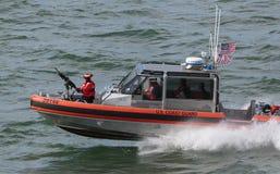 Coast Guard Patrol. San Francisco, CA, USA - May 21, 2016: A US Coast Guard patrol boat cruising in the San Francisco Bay Royalty Free Stock Images