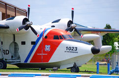 Coast Guard plane closeup Stock Photo