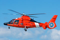 Coast Guard Rescue Helicopter Stock Image