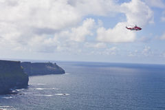 Coast Guard Rescue Helicopter Royalty Free Stock Photos