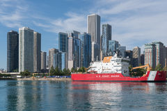 Coast Guard ship docked in Chicago royalty free stock image