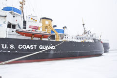 Coast Guard ship in ice Royalty Free Stock Photography
