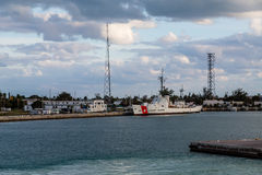 Coast Guard Ship at Key West Station Stock Photos
