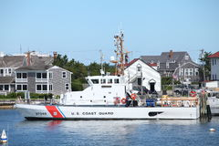 Coast Guard ship Nantucket, MA Stock Images
